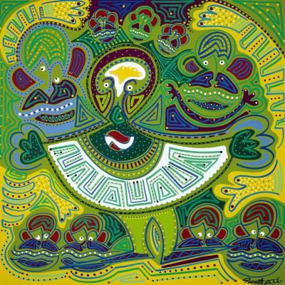 Schilderij - Jongleur - Toyisme. Hedendaagse kunst online kopen.