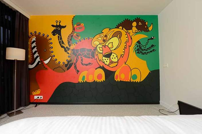 Toyistenhotel-Night in the Jungle B - Toyism Art Movement