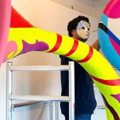 Sculpture - Trumpet Flowers Jafr - Toyism Art Movement