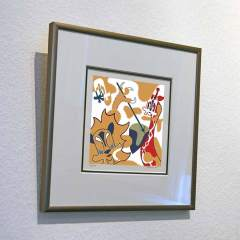 Silkscreen - Two Tribes - Framed - Toyism Art Movement