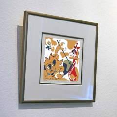 Silkscreen - Two Tribes - Framed - Toyism Art Movement