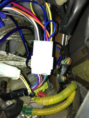 Stereo wiring diagram or color of power antenna  Toyota