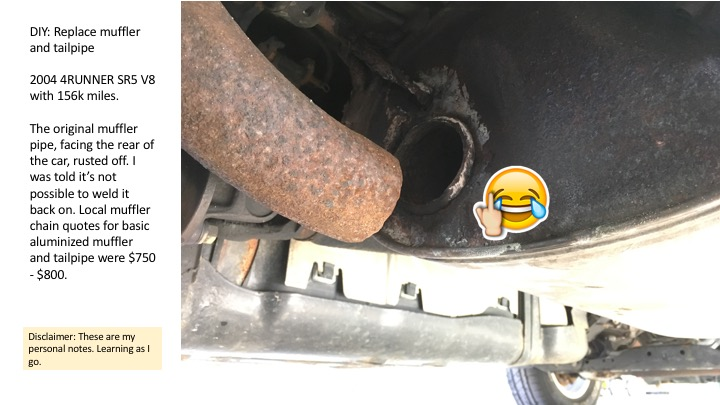 diy exhaust muffler tail pipe