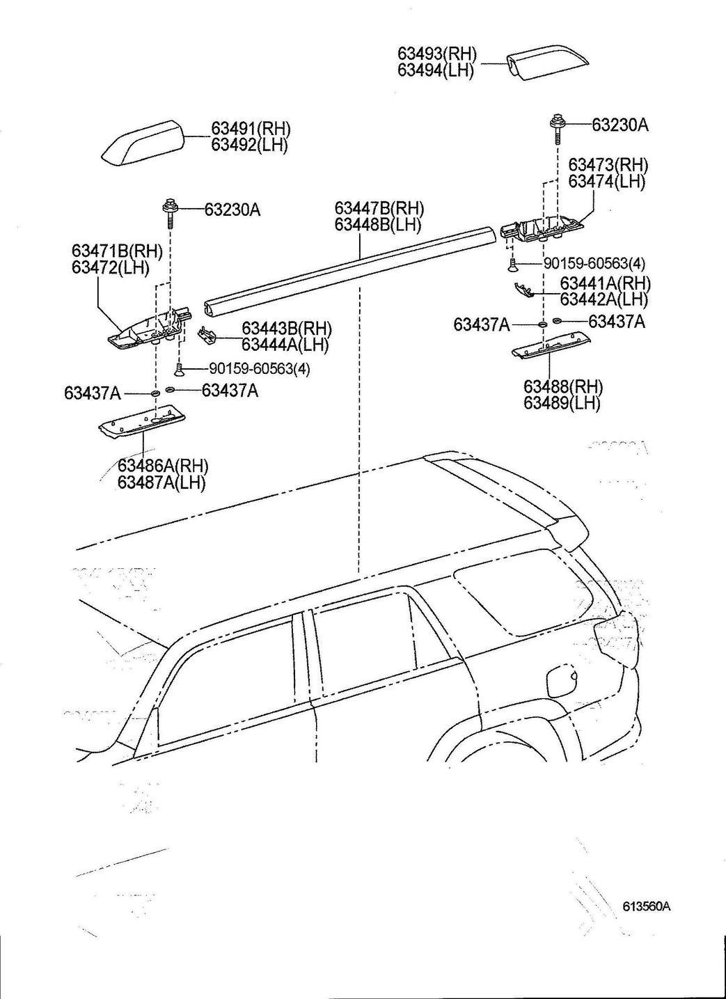 Toyota 4runner Roof Rack Cover