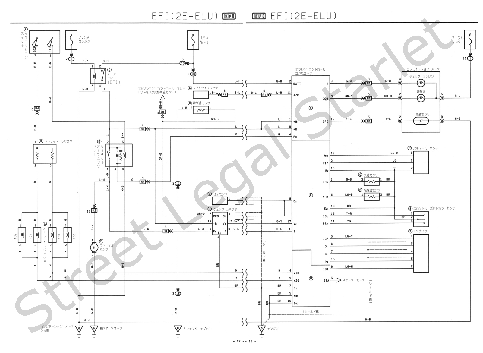 Wire Diagram A Toyota Starlet Ep82