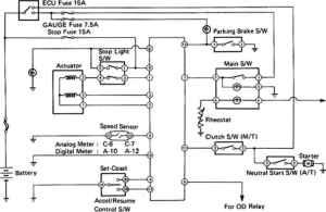 Cruise Control System Wiring Diagram  Toyota Celica Supra MK2 86 Repair