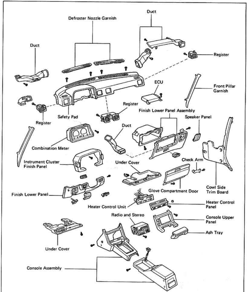 2003 Toyota Tundra Parts Diagram Engine Compartment