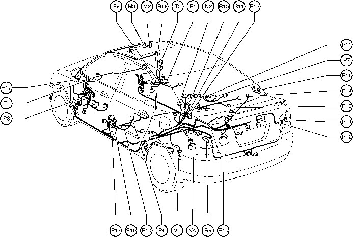 2006 Toyota Corolla Body Parts Diagram