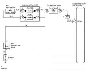 Abs Warning Light Circuit Circuit Description  Toyota