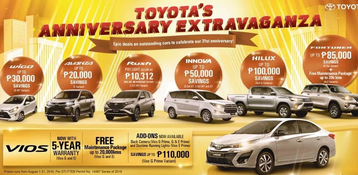 Toyota Philippines August 2019 Promo