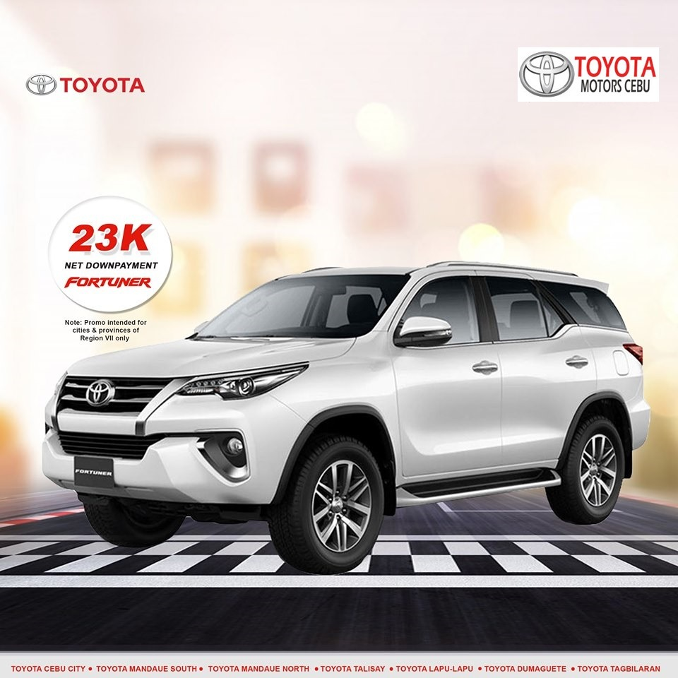 toyota fortuner october 2019 latest promotional offer in toyota philippines cebu