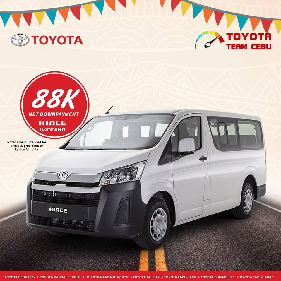 toyota hiace commuter january 2020 cebu promotion