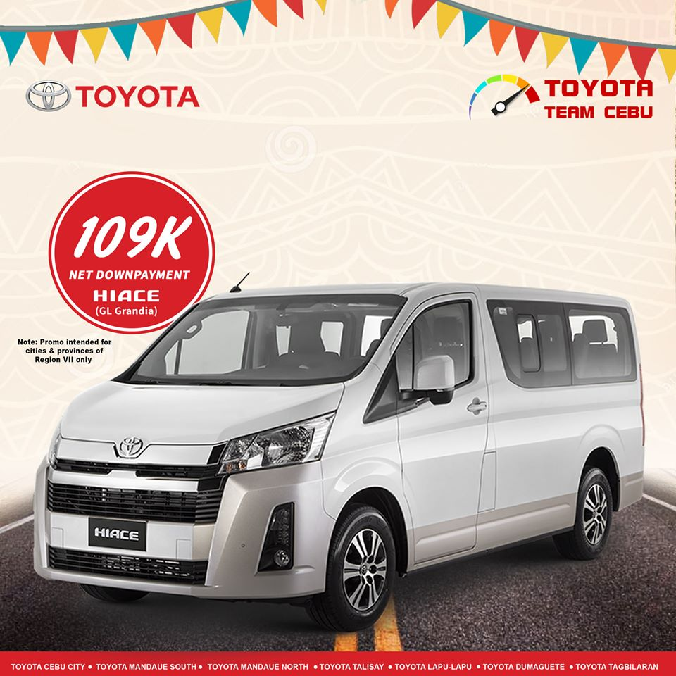 toyota hiace gl grandia january 2020 cebu promotion