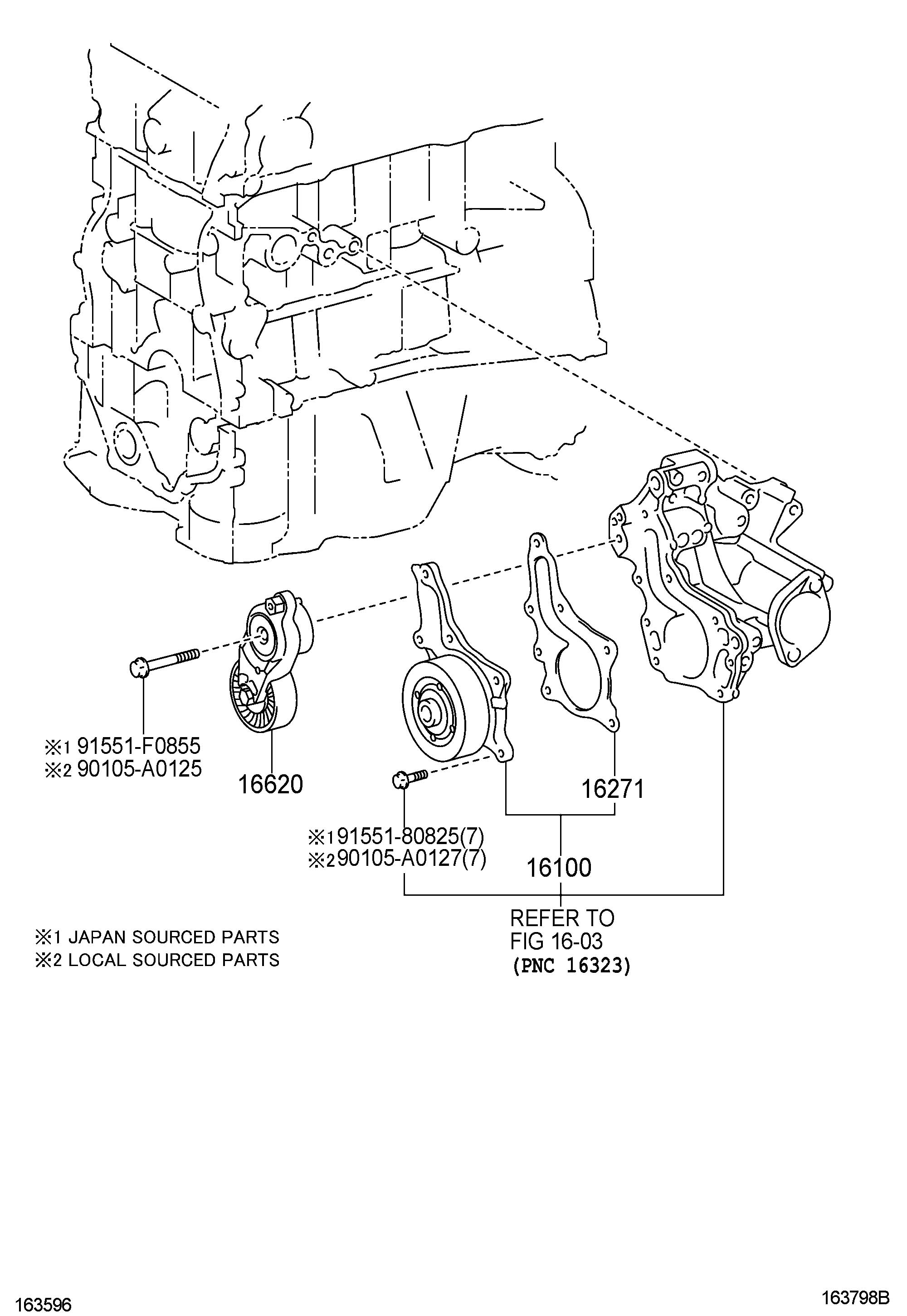 Toyota Venza Pump Assembly Engine Water Pump Water L