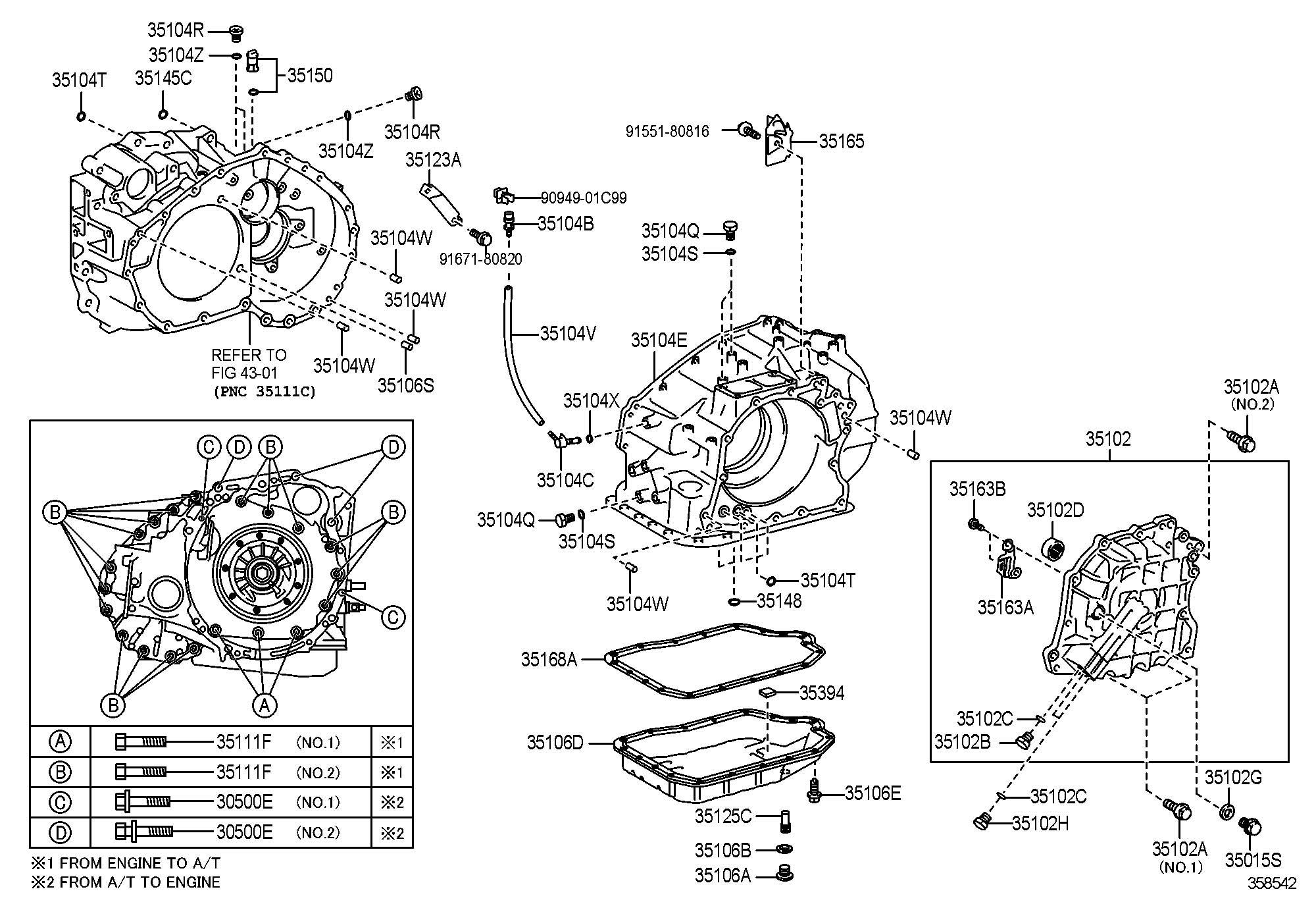 Toyota Plug Assembly Transmission Case Atm Speed