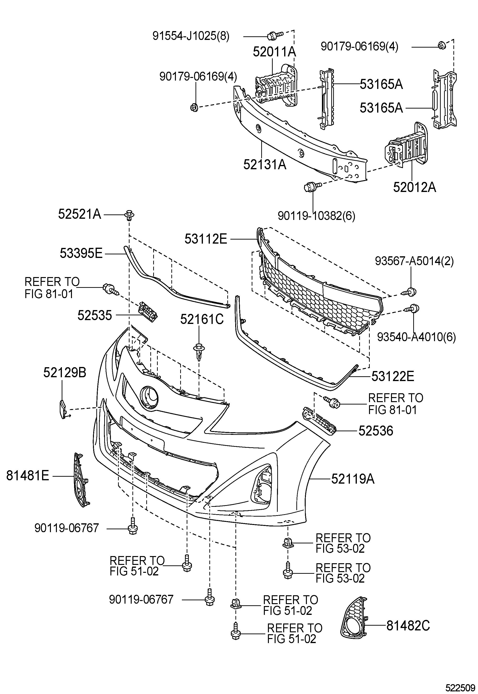 Toyota Yaris Cover Front Bumper Cover Bumper Headlamp