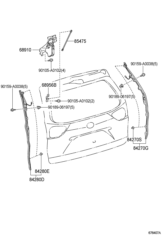 Toyota Sienna Bracket Back Door Stay Upper Left