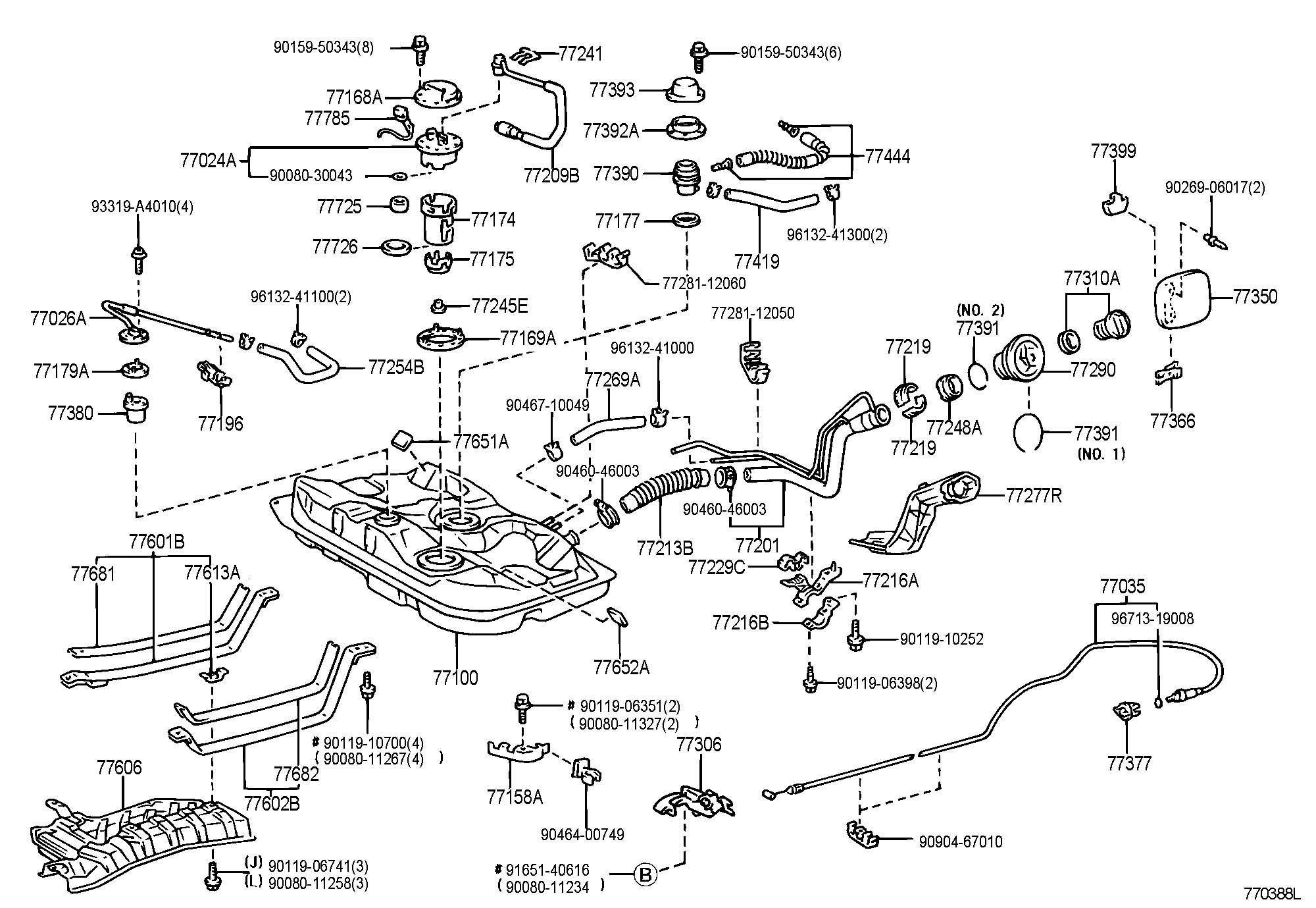 Toyota Corolla Tank Assembly Fuel Tank Fuel Tank