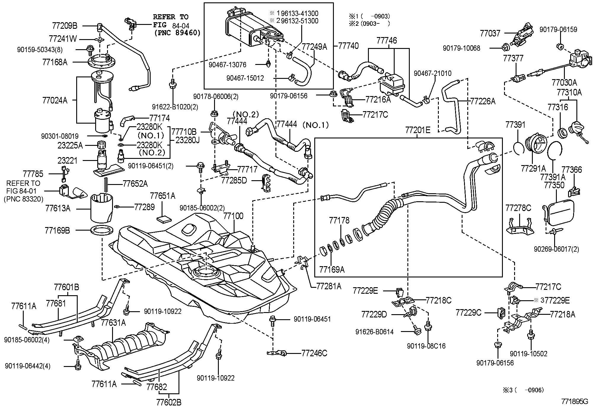 Toyota Camry Hose Fuel Tank Vent Hose Vent No 1