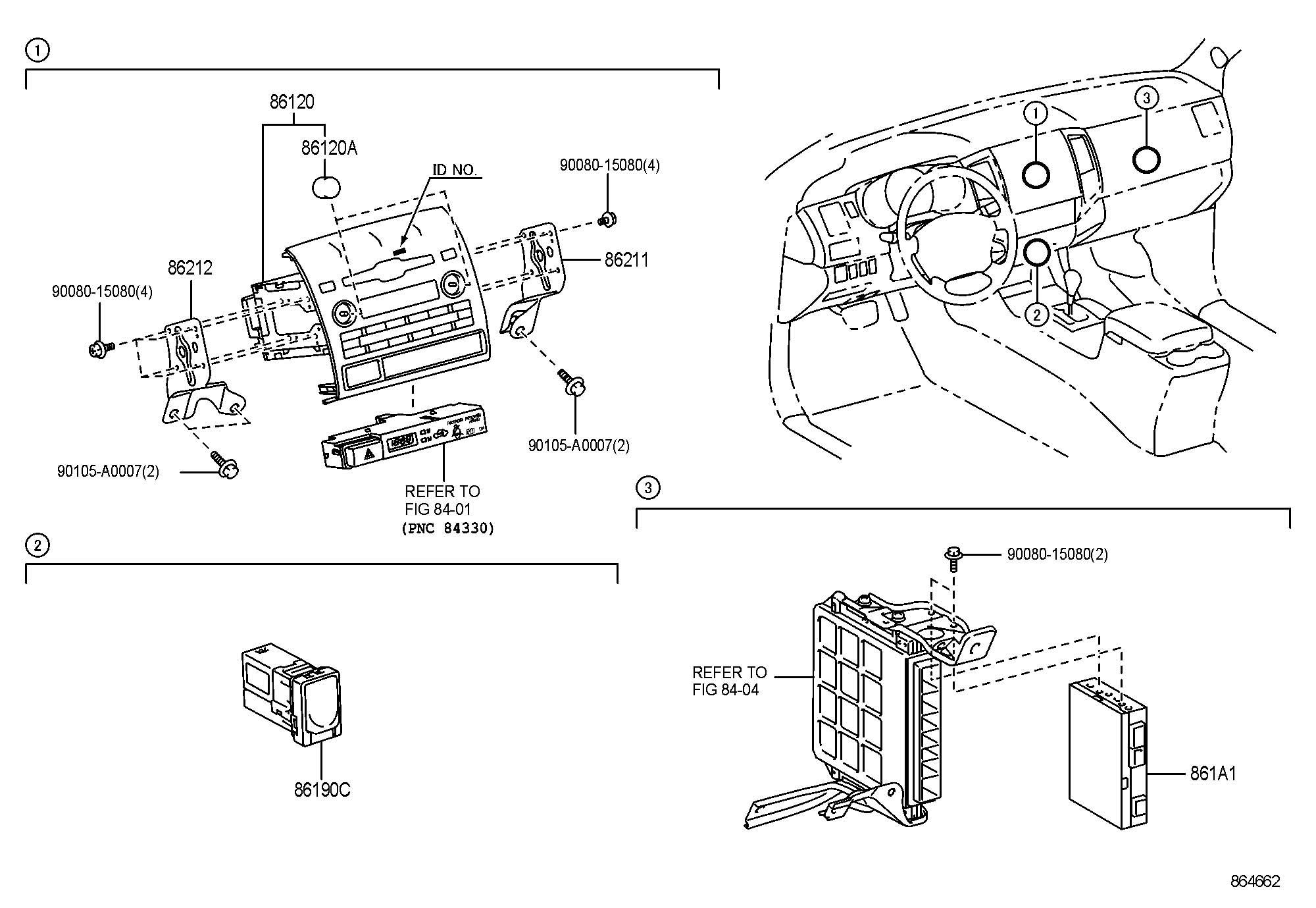 Toyota Tacoma Adapter Assembly Stereo Jack No 1