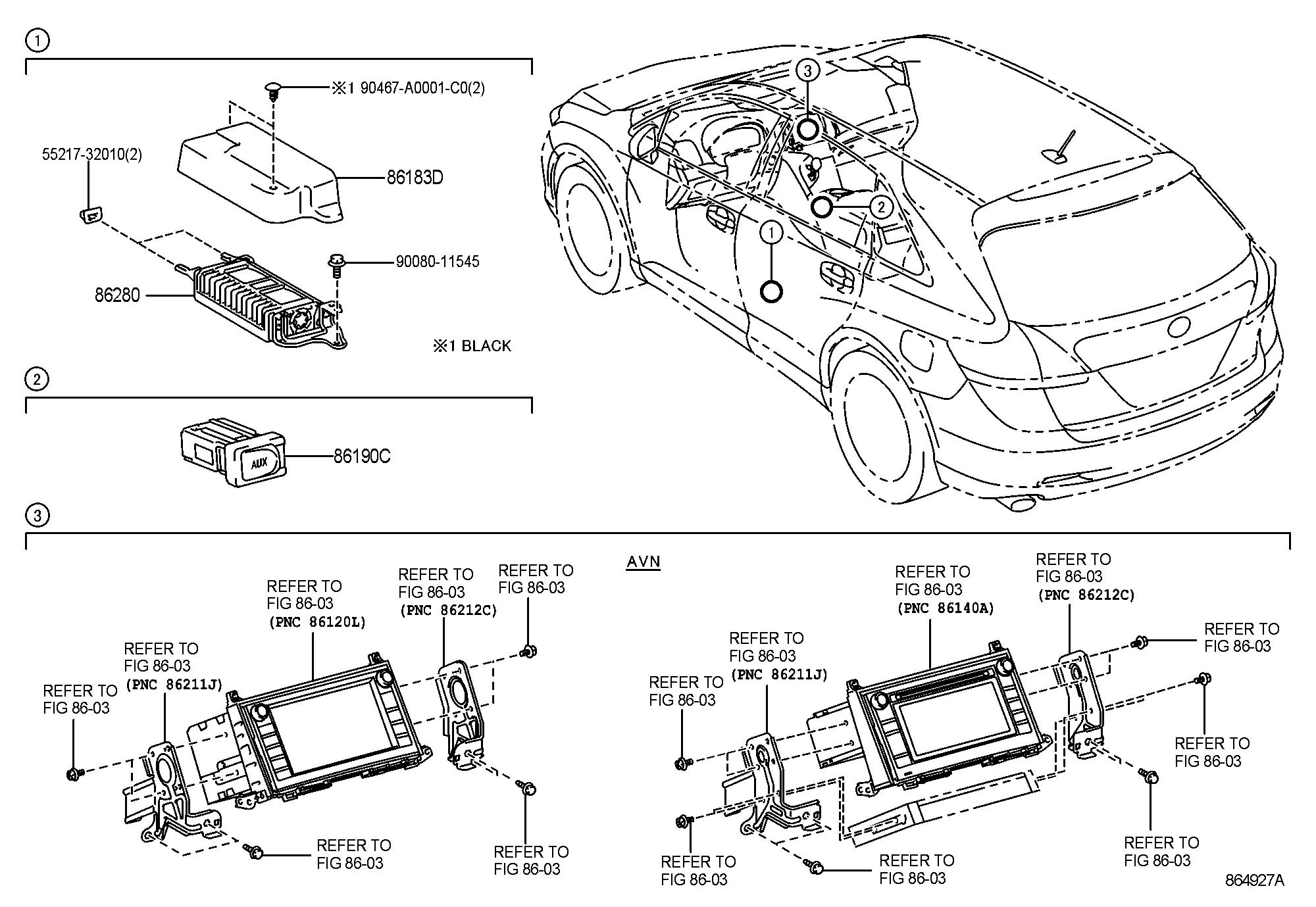 Toyota Venza Adapter Assembly Stereo Jack No 1 Adapter