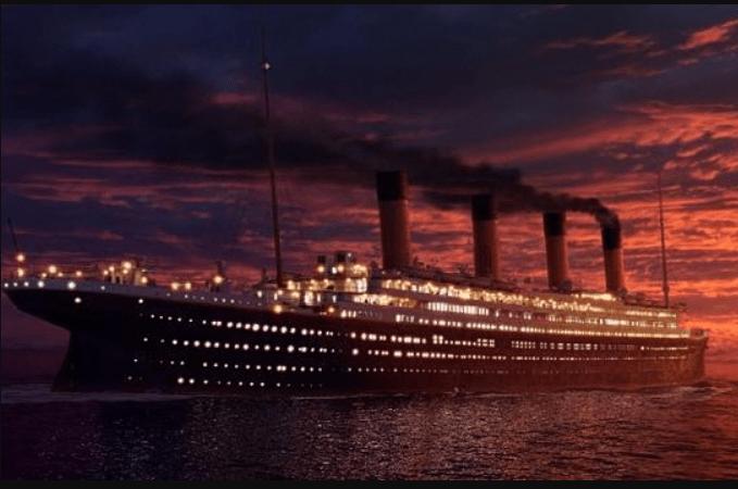 Titanic atardecer