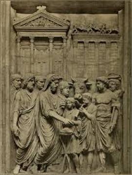 flamen dial relievo pietra sacerdote giove