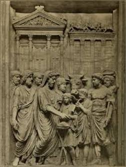 priest minister flamen dial  relief THE BEANS AND OTHER ROMAN RITUALS