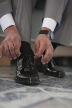 man elegant  shoes