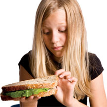 Picky Girl Eater - Copyright – Stock Photo / Register Mark