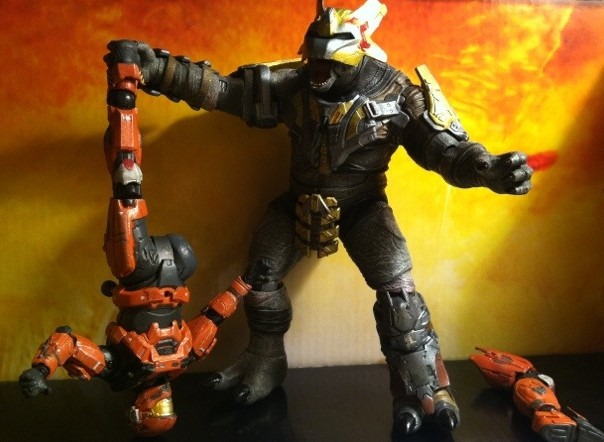 Toy Review Halo Reach Series 6 Brute Major Action Figure