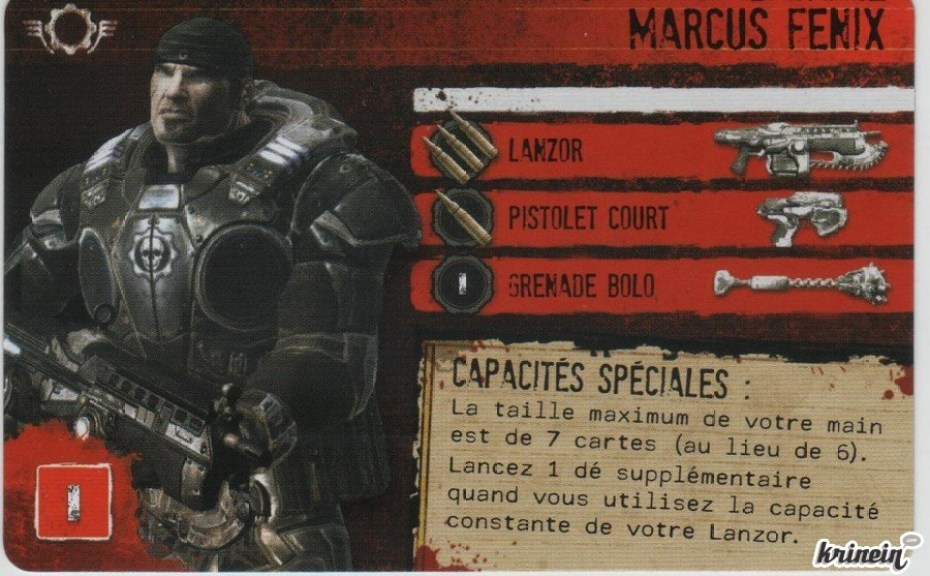 Gears of War carte personnage