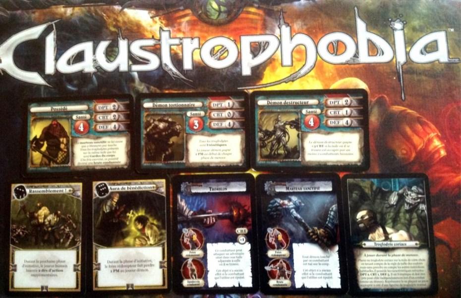 claustrophobia cartes