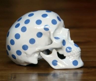 skull polka dot
