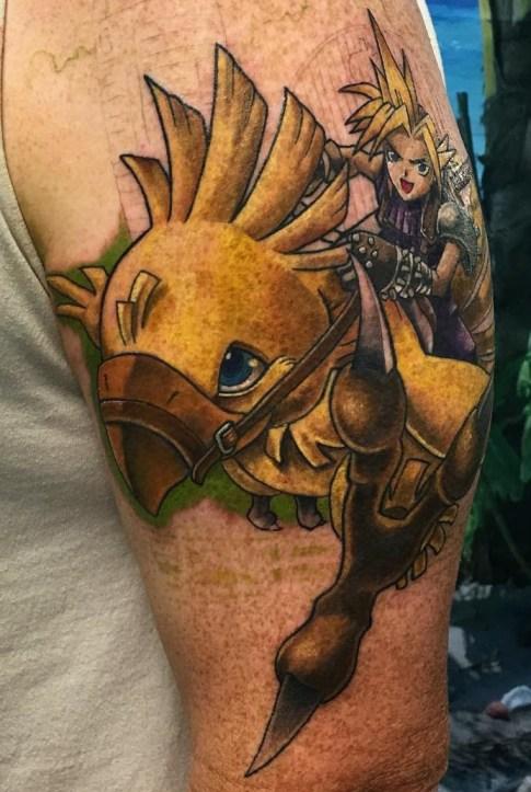 Ryan Townsend geek peau best of tattoo final fantasy chocobo