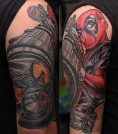 Stevan Marroquin Tattoo best of tattoo geek peau deadpool marvel