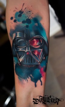 Kateryna Zelenska best of tattoo star wars darth vader