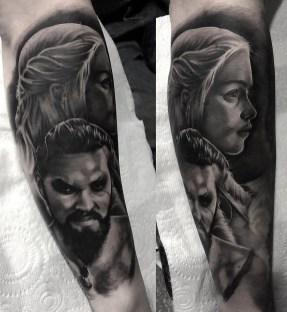 Aaron King geek best of tattoo game of thrones GOT
