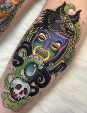 Jenna Kerr best of tattoo geek peau villains