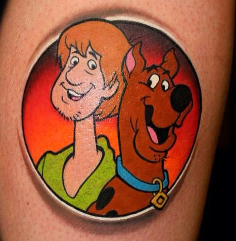 Chris 51 geek peau best of tattoo scoobydoo