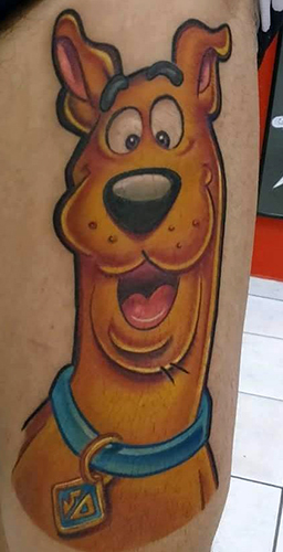 Gustavo Bastos geek peau best of tattoo scoobydoo