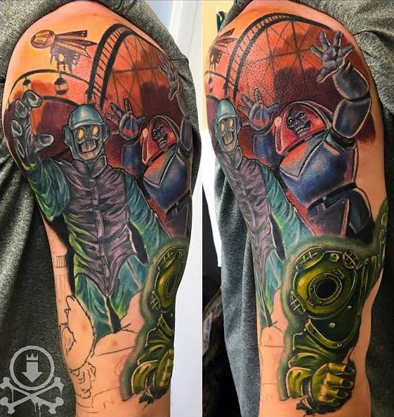 Meghan Patrick geek peau best of tattoo scoobydoo
