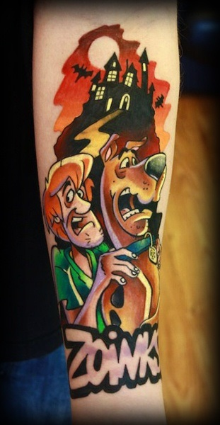 Unknown geek peau best of tattoo scoobydoo