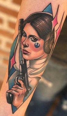 Debora Cherrys best of tattoo star wars leia