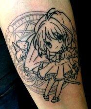 Conny Valdebenito Best of Tattoo Sakura Card Captor manga tattoo geek