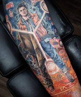 Ben Whiteraven geek dans la peau best of tattoo back to the future