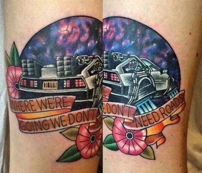 Matthew Robinson geek dans la peau best of tattoo back to the future