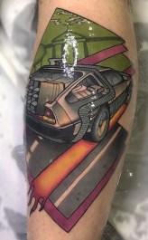 Raquel Escudero geek dans la peau best of tattoo back to the future
