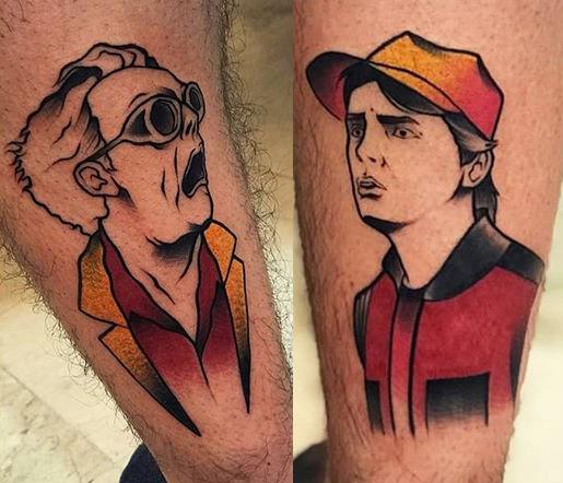 Rashetti geek dans la peau best of tattoo back to the future