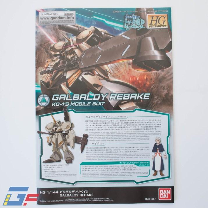 GALBALDY REBAKE UNBOXING BANDAI TOYSANDGEEK @Gundamfascination